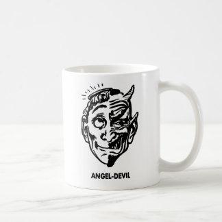 Kitsch Vintage Monster Angel and Devil Man Coffee Mugs