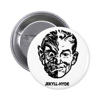Kitsch Vintage Monster Dr. Jekyll & Mr. Hyde 6 Cm Round Badge