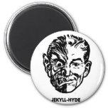 Kitsch Vintage Monster Dr. Jekyll & Mr. Hyde 6 Cm Round Magnet