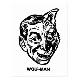 Kitsch Vintage Monster Wolfman Postcard