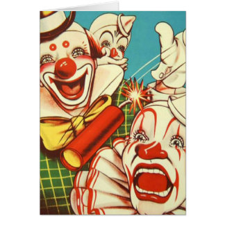 Kitsch Vintage Never Trust a Clown Card