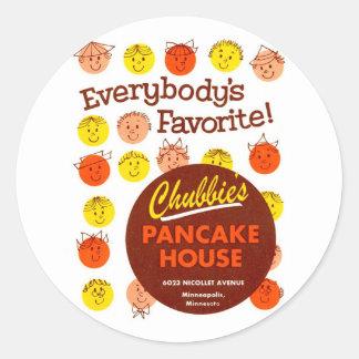 Kitsch Vintage Pancake House Chubbie s Stickers