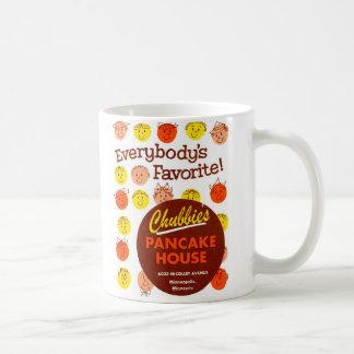 Kitsch Vintage Pancake House 'Chubbie's' Classic White Coffee Mug