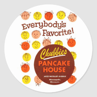 Kitsch Vintage Pancake House 'Chubbie's' Stickers