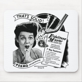 Kitsch Vintage Phonograph Record Needle Mouse Pad