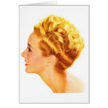 Kitsch Vintage Pin-Up Girl Classic Profile Cards