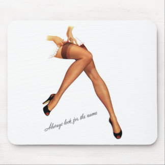 Kitsch Vintage Pin-Up Legs Stockings Mouse Mat