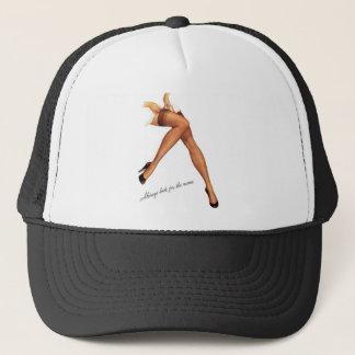 Kitsch Vintage Pin-Up Legs Stockings Trucker Hat