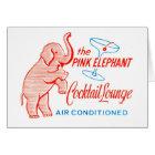 Kitsch Vintage Pink Elephant Cocktail Lounge