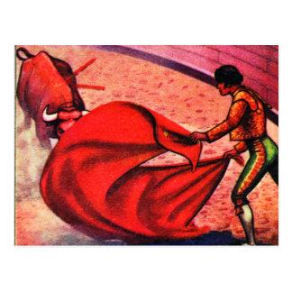 Kitsch Vintage Retro Bullfight Matador El Toro Postcard