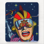 Kitsch Vintage Sci-Fi Space Ranger Shooter Mouse Pad