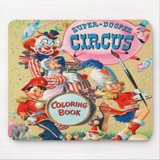 Kitsch Vintage Super Duper Coloring Book Mousepad