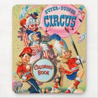 Kitsch Vintage Super Duper Coloring Book Mouse Pad