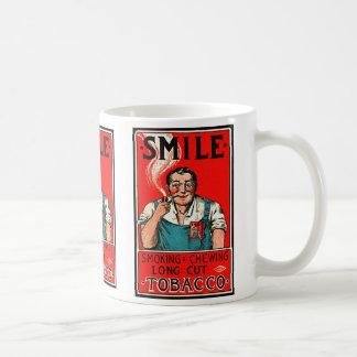 Kitsch Vintage Tobbaco Smoking 'Smile' Brand Coffee Mugs