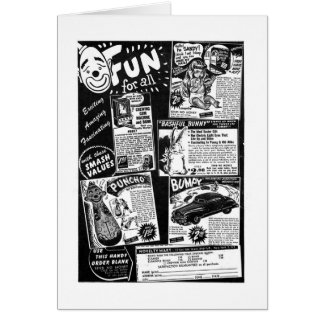 Kitsch Vintage Toy Ad ' Fun for All' Greeting Card