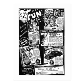 Kitsch Vintage Toy Ad ' Fun for All' Postcard