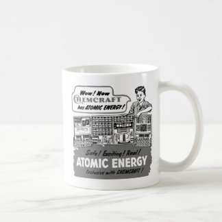 Kitsch Vintage With Atomic Energy Chemistry Set Basic White Mug