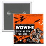 Kitsch Vintage Wowee Wax Gum Halloween 15 Cm Square Badge