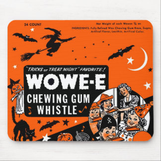 Kitsch Vintage Wowee Wax Gum Halloween Mouse Pad