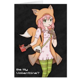 Kitsune Cosplayer Valentine Card