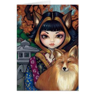 Kitsune Greeting Card