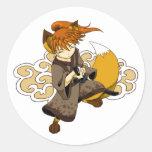 Kitsune Samurai Stickers