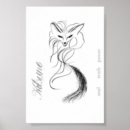 Kitsune - the spirit of the fox print