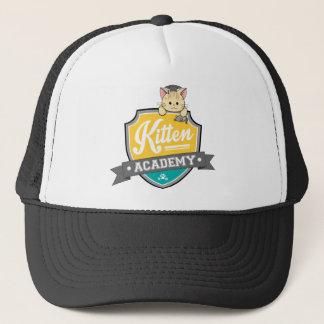 Kitten Academy Crest Trucker Hat
