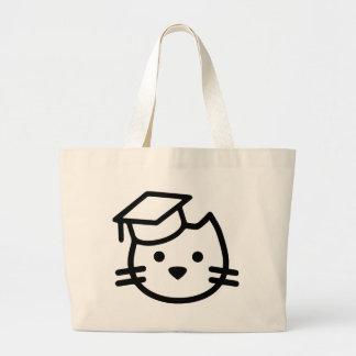 Kitten Academy Logo Large Tote Bag