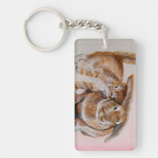 Kitten and Bunny Keyring