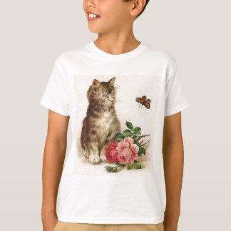 Kitten and Butterfly T-Shirt
