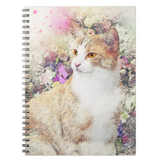 Kitten and Flowers Notebook