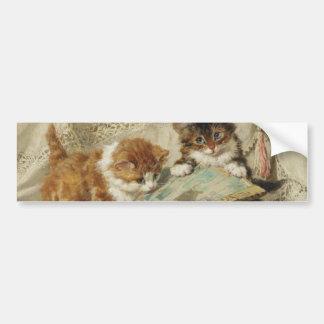 Kitten and Japanese fan Bumper Sticker