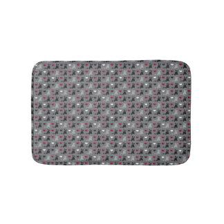 kitten and mice pattern bath mat