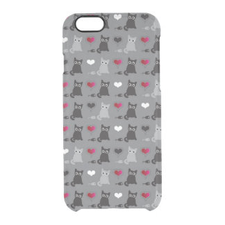 kitten and mice pattern clear iPhone 6/6S case