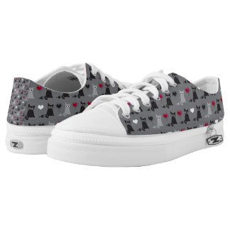 kitten and mice pattern low tops