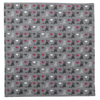 kitten and mice pattern napkin