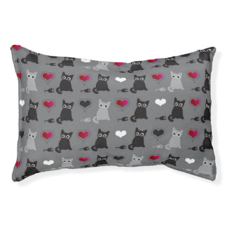 kitten and mice pattern pet bed
