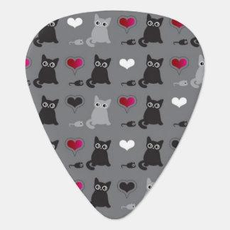 kitten and mice pattern plectrum