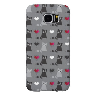 kitten and mice pattern samsung galaxy s6 cases
