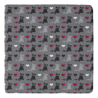 kitten and mice pattern trivet