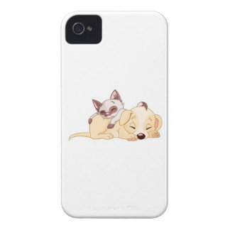 Kitten and Puppy Phone Case iPhone 4 Case-Mate Cases