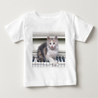 Kitten And The Piano Baby T-Shirt
