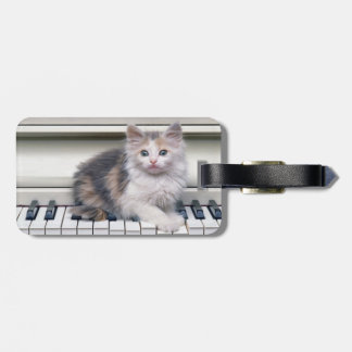 Kitten And The Piano Luggage Tag