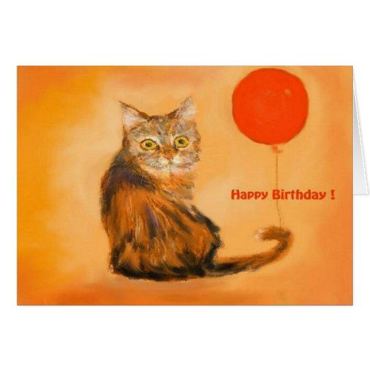 Kitten  birthday card