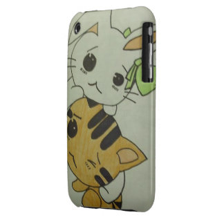Kitten & Bunny iphone 3G/3GS case iPhone 3 Case