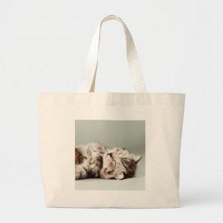 kitten, cat, cute tabby cat, cute cats, cute kitte large tote bag