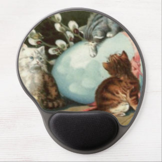 Kitten Cat Easter Colored Painted Egg Gel Mouse Pads