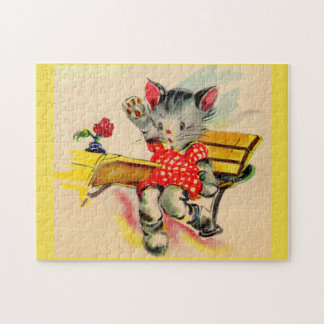 kitten cat student jigsaw puzzle