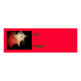 Kitten Christmas Gift Tags Pack Of Skinny Business Cards